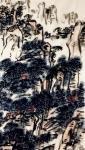 龚光万日志-写意山水画《触袖野花多自舞,避人幽鸟不成啼》,作品尺寸四尺竖【图5】