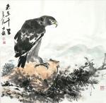 卢士杰日志-国画鹰系列作品《高瞻远瞩,百里秋毫》《志在千里》;   第【图2】