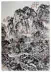 阎敏日志-国画山水画《山岚晨风起,农家浴新晖》,《溪山询路径,笔墨写芳【图2】