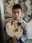 李高藏宝-工作室少儿课堂今天体验团扇国画创作,小朋友们最近写的画的进步【图2】