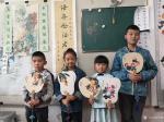 李高藏宝-工作室少儿课堂今天体验团扇国画创作,小朋友们最近写的画的进步【图4】