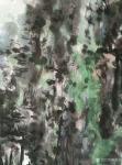 杨牧青日志-款识:古人无大色大彩之渍染,今人有宇宙星云幻化之奇观,借以渍【图1】