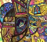 刘永铎藏宝-《热爱绘画的小姑娘》学生作品欣赏; 她那么的热爱画画, 【图3】
