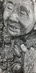 """马培童日志-""""母亲、是我心中的佛。""""马培童焦墨画感悟笔记(105)  【图2】"""