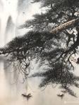 """罗树辉日志-国画山水新作《峽江煙雨》""""闲来听乐韵无穷,起而泼墨写春秋"""",【图3】"""