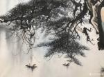 """罗树辉日志-国画山水新作《峽江煙雨》""""闲来听乐韵无穷,起而泼墨写春秋"""",【图4】"""