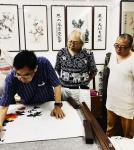 张近生藏宝-联袂创作国画《封候得寿图》,与潮汕88岁泰斗书画家胡天民先生【图3】