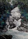 严巍日志-国画山水画《陇塬晨晓》《清泉石上流》陇塬写生作品欣赏;  【图3】