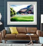 叶向阳日志-水彩画《农家屋内欢乐歌》《鱼儿山下披绿装》《欢声笑语农家乐》【图2】