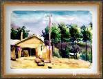 叶向阳日志-水彩画《农家屋内欢乐歌》《鱼儿山下披绿装》《欢声笑语农家乐》【图3】