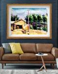 叶向阳日志-水彩画《农家屋内欢乐歌》《鱼儿山下披绿装》《欢声笑语农家乐》【图4】