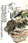 甘庆琼日志-国画荷花《世间花叶不相伦》尺寸三尺整张100X50cm; 【图1】