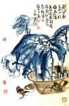 甘庆琼日志-国画荷花《世间花叶不相伦》尺寸三尺整张100X50cm; 【图2】