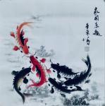 李尊荣日志-国画鱼虾蟹《连年有余》《家园乐趣》《相约在春季》《咏春之乐》【图3】