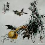 邢坤日志-国画花鸟画《纳福图》祝朋友们每天都在福中。作品尺寸四尺斗方6【图1】
