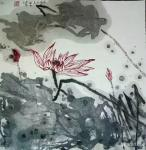 梁京日志-自然野逸写意荷花作品4幅请欣赏;  乙亥年十月梁京写于明楚【图1】