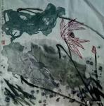 梁京日志-自然野逸写意荷花作品4幅请欣赏;  乙亥年十月梁京写于明楚【图2】