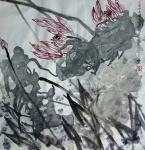 梁京日志-自然野逸写意荷花作品4幅请欣赏;  乙亥年十月梁京写于明楚【图4】