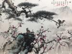 罗树辉藏宝-国画山水画《风和万物荣》乙亥秋月罗树辉 、朱明贵、金新宇、周【图3】