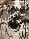 周鹏飞日志-国画写意花鸟画《世代和谐图》!夜战结束,登床,眠梦!   【图1】