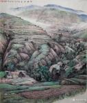 严巍日志-陇塬写生作品国画山水画《陇塬立夏》和《陇塬岁月》,创作时间乙【图1】