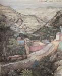严巍日志-陇塬写生作品国画山水画《陇塬立夏》和《陇塬岁月》,创作时间乙【图2】