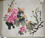徐如茂藏宝-国画牡丹,入室女弟子的习作,交师范展览作品。【图2】