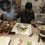 徐如茂藏宝-国画牡丹,入室女弟子的习作,交师范展览作品。【图3】