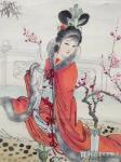 金新宇藏宝-花重金买了一个美人,福建名家陈友梅老师国画人物画作品。【图4】