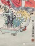 金新宇藏宝-花重金买了一个美人,福建名家陈友梅老师国画人物画作品。【图3】