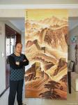 宁建华藏宝-国画山水《万里长城》,彩墨山水画,大家欣赏指导一下【图2】
