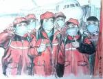于波日志-国画人物画武汉抗疫专题作品:《民族脊梁》《万民一心,众志成城【图2】