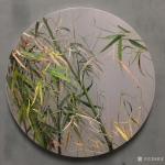 黄进日志-油画作品《竹》,圆饼,直径50CM,新风格,为家居平添艺术氛【图1】