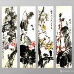 甘庆琼日志-国画写意花鸟画《春夏秋冬》,尺寸四条屏138x68cm; 【图5】