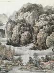 陈庆明日志-新创作的6尺国画山水画作品《春之韵》,愿祖国的江山春意盎然,【图2】