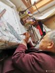 任燕藏宝-国画人物画《阿耨观音》作品尺寸四尺竖幅68X138CM; 【图4】