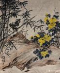 周鹏飞日志-庚子年新作国画花鸟画《笑猪图》《大吉秀春》《秋兴图》; 世【图1】