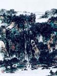 龚光万日志-国画山水画《 溪山春晓 》写意山水画;作品尺寸六尺横幅178【图3】