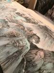 任振山藏宝-应邀为某地产集团绘制的巨幅国画山水画《旭日东升图》。【图2】
