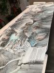 任振山藏宝-应邀为某地产集团绘制的巨幅国画山水画《旭日东升图》。【图3】