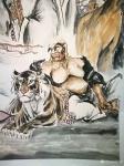 郭浩艺日志-郭浩艺国画人物画《十八罗汉》,局部图,作品尺寸丈六193CM【图3】