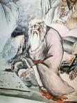 郭浩艺日志-郭浩艺国画人物画《十八罗汉》,局部图,作品尺寸丈六193CM【图5】