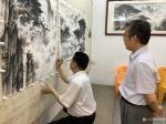 罗树辉藏宝-共创国画人物画《悟禅图》,作品尺寸四尺横幅68X138CM;【图2】