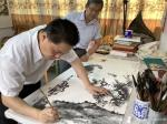 罗树辉藏宝-共创国画人物画《悟禅图》,作品尺寸四尺横幅68X138CM;【图5】
