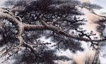 罗树辉日志-国画山水画作品《猿戏云水间 》,尺寸四尺整纸138X68CM【图3】