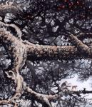 罗树辉日志-国画山水画作品《猿戏云水间 》,尺寸四尺整纸138X68CM【图4】