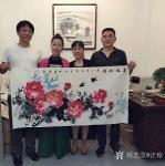 汪琼日志-国画花鸟画牡丹笔会作品《惠风和畅》《富贵吉祥》,作品尺寸四尺【图4】