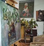 杨洪顺日志-油画写生作品《向日葵》,第5天,画到叶子都枯萎了,好好干活,【图2】