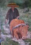 杨洪顺日志-油画《二哥家杀猪啦》《犁田》,杨洪顺农村题材油画作品欣赏;【图4】
