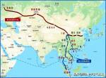 杨牧青日志-这是以甘肃兰州为坐标点的当今交通构架图,非常好!陇山以西的